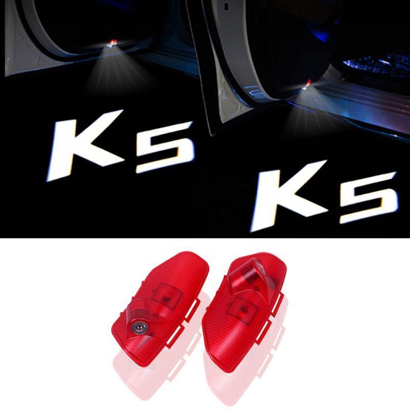 4pcs / lot KIA k5 첫 번째 Gen Optima TF 2010 - 2021 자동차 스타일링 자동차 도어 로고 Courtesy Interiorexternal Lights