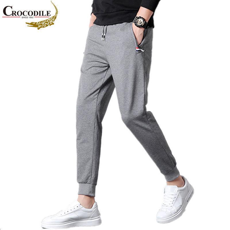 Crocodile Brand Spring Fashion Skinny Sketpants Mens Joggers pantalones de pantalones Ropa Jogger Sweat Track Lápiz Pantalones