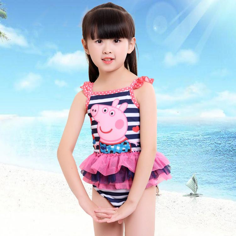 Bikini Bikini Un pezzo Studente Swimsuit Girl Girl Sunscreen Baby