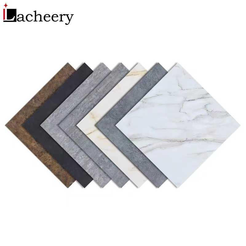 Modern Self Adhesive Tiles Floor Stickers Marble Bathroom Ground Decals Kitchen Bedroom Peel and Stick Wall Sticker Home Decor 210615