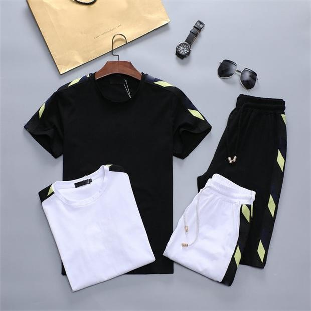 2021 designer tide men's suit summer cotton sportswear fabric comfortable and fashionable 2217w