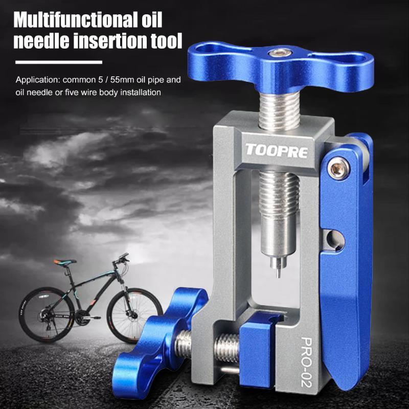 Herramientas Toopre Aluminio Bicicleta Aguja Aguja Instalación Herramienta Discos Cutter Cutter T Head Inserción Tubo Truncamiento Ciclismo