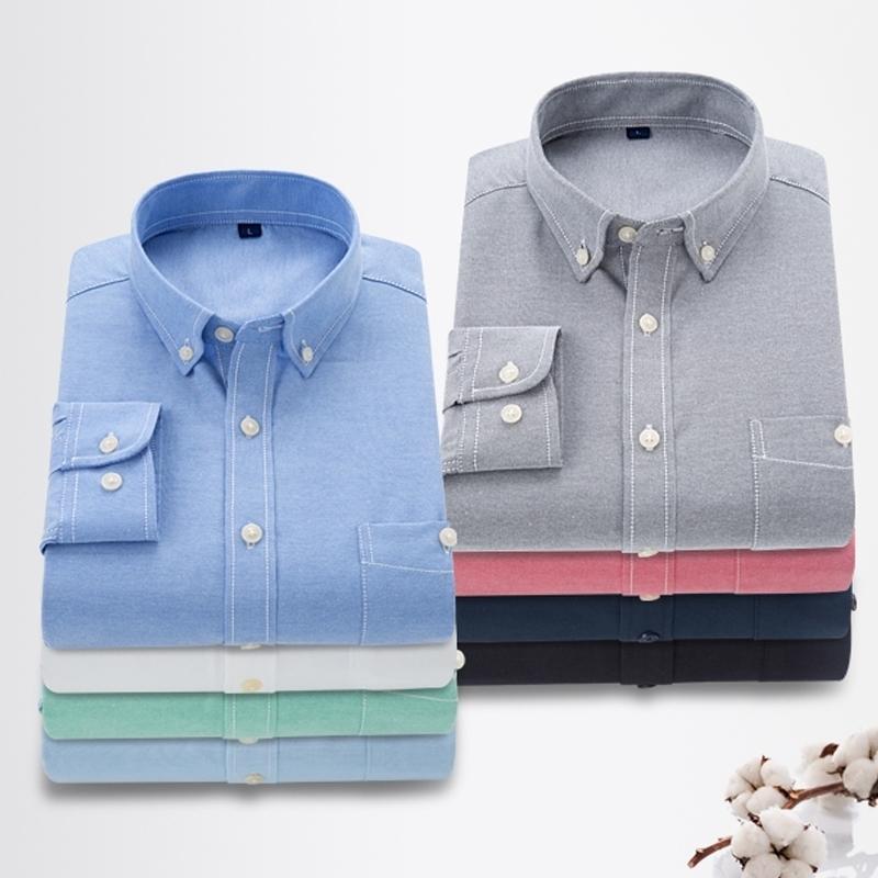 019 hombres camisa primavera otoño casual manga larga camisa suave confort slim fit estilos camisa hombres vestido camisas camisas ropa cómoda y200107
