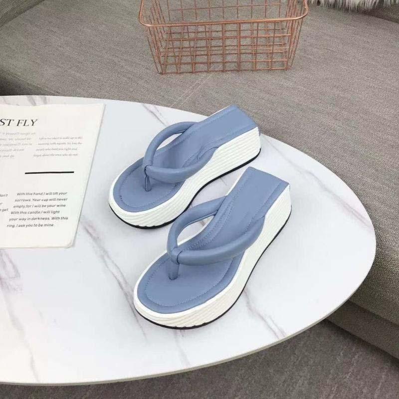 Толстые нижние тапочки для женщин на открытом воздухе тапочки плоский синий черный белый женщина летние сандалии большой бабочка флип флопс пляж сандалии фенерины