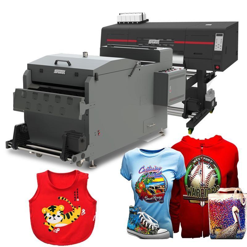 Drucker DTF-Drucker I3200-Kopf-digitaler Textildruckmaschine für T-Shirts mit Pulverschütteln