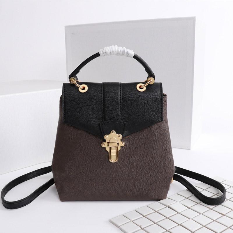 Lussurys Designer Zaini Backpacks Mini Zaino Borse a spalla in pelle bovina Vecchio fiore classico quadrato luminoso oro chiusura borsa scolastica borse