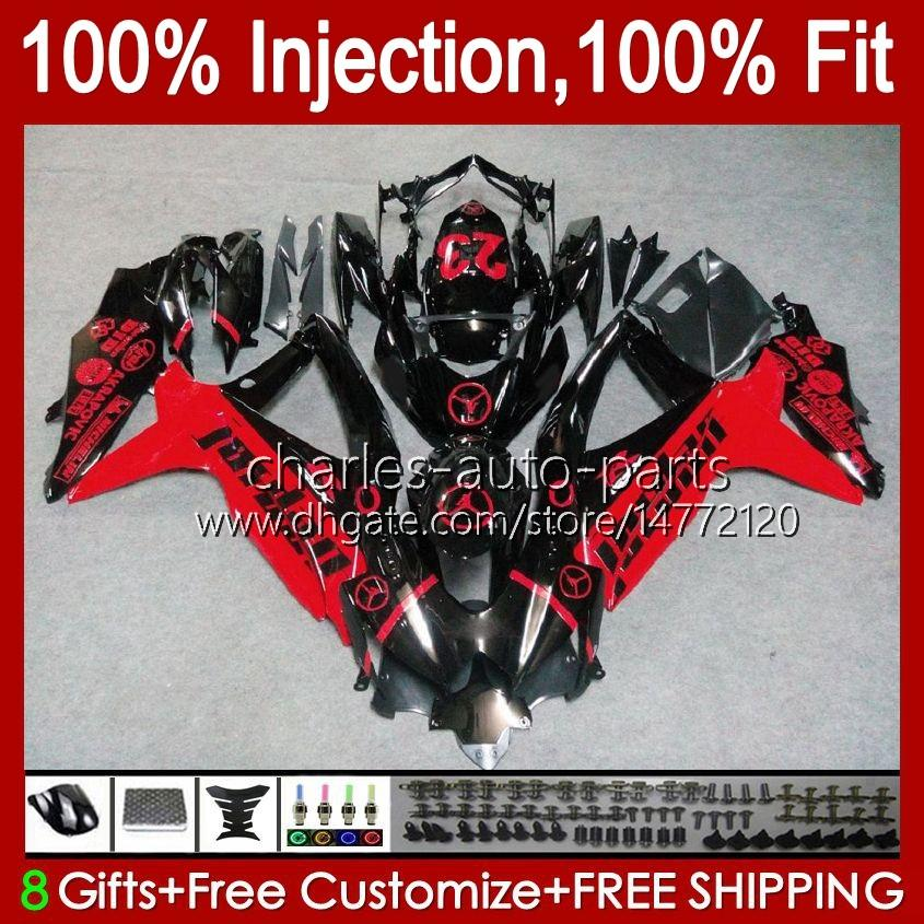 Injectievorm voor Suzuki GSXR600 K8 GSX-R750 GSXR-600 ROOD GLOSSY NIEUWE GSXR-750 GSXR750 CANDWORK 9HC.40 GSX-R600 2009 2009 2010 GSXR 600 750 CC 600CC 750CC 08 09 10 Kuip