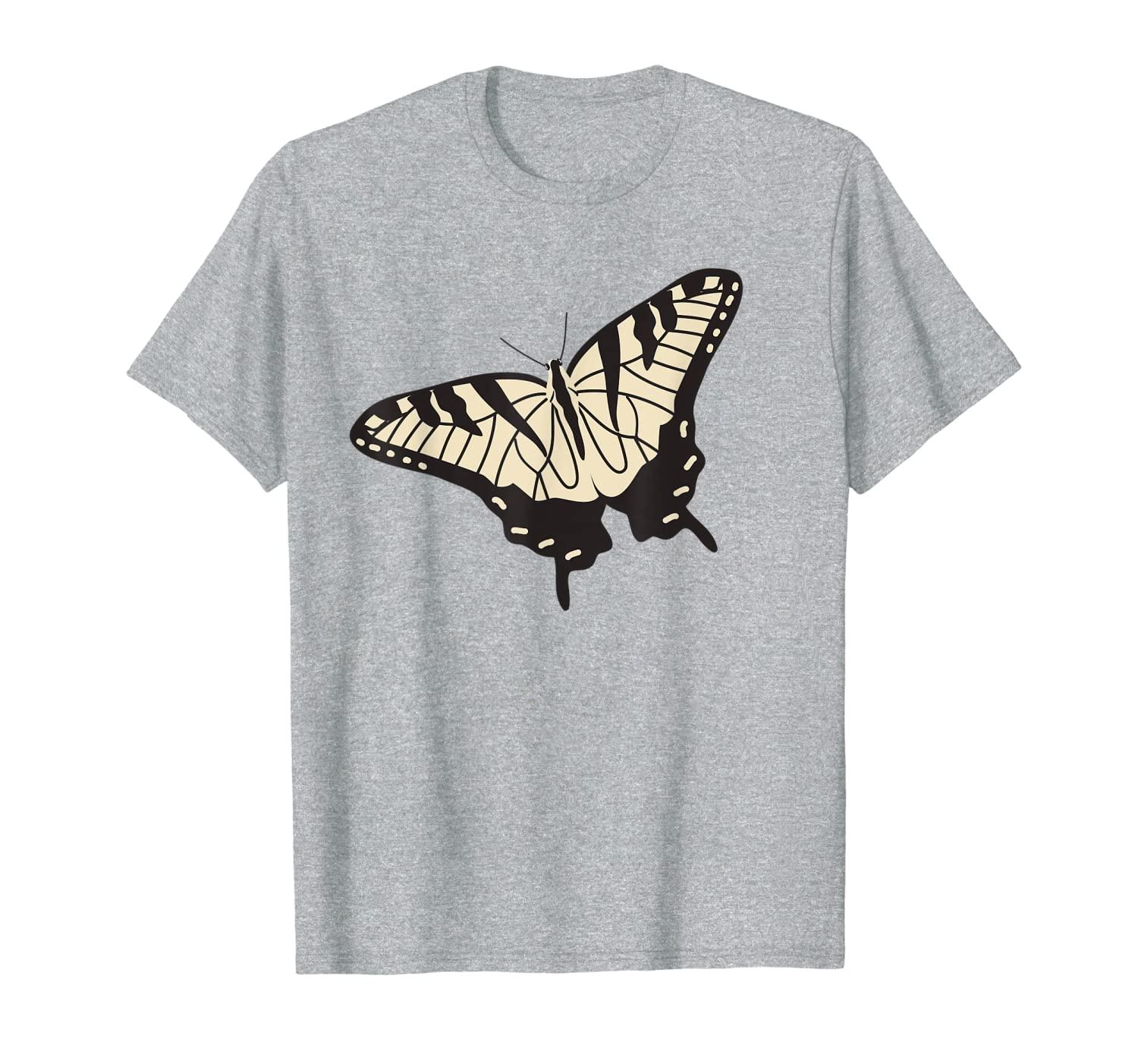 Yellow Tiger Swallowtail Butterfly Illustration Graphic T-Shirt