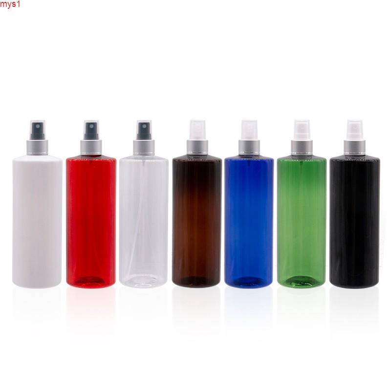 Botella de mascotas azules de 500 ml DIY 500CC Contenedor de perfume vacío Botella de aerosol de niebla fina, botellas de la bomba del pulverizador para el empaquetado cosméticoHigh Cantidad