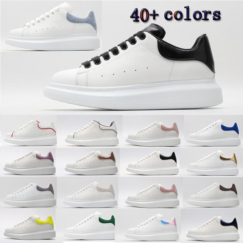 [Mit box] Alexander McQueen Sneaker All White fashion luxury espadrille flat flats alexander mcqueens men mcqueen eoversized shoes sneaker men women platform shoes baskets sneakers