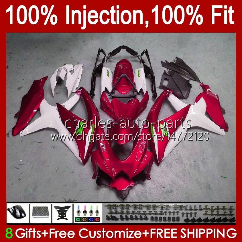 Injection Mold For SUZUKI GSXR 600 750 CC 600CC 750CC pearl red blk GSXR600 K8 GSX-R750 9HC.157 GSXR-600 GSXR-750 08 09 10 GSXR750 GSX-R600 2008 2009 2010 OEM Fairing Kit