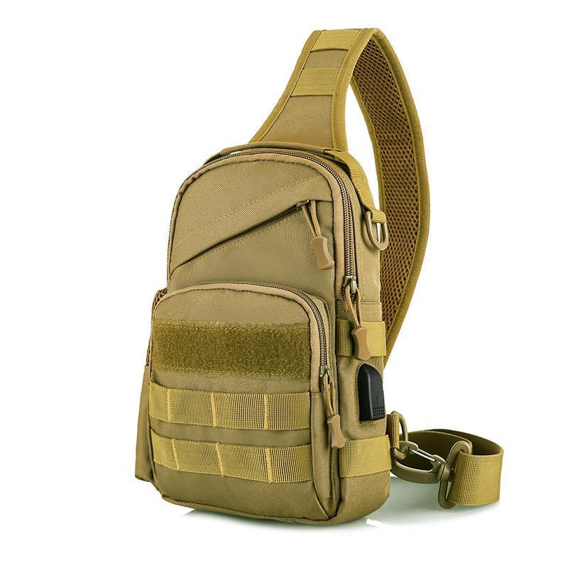 Tactical Sling Tasche Outdoor Camouflage Brust Pack Schulter Rucksack Militär Sport Für Trekking Camping Wandern Tag€€