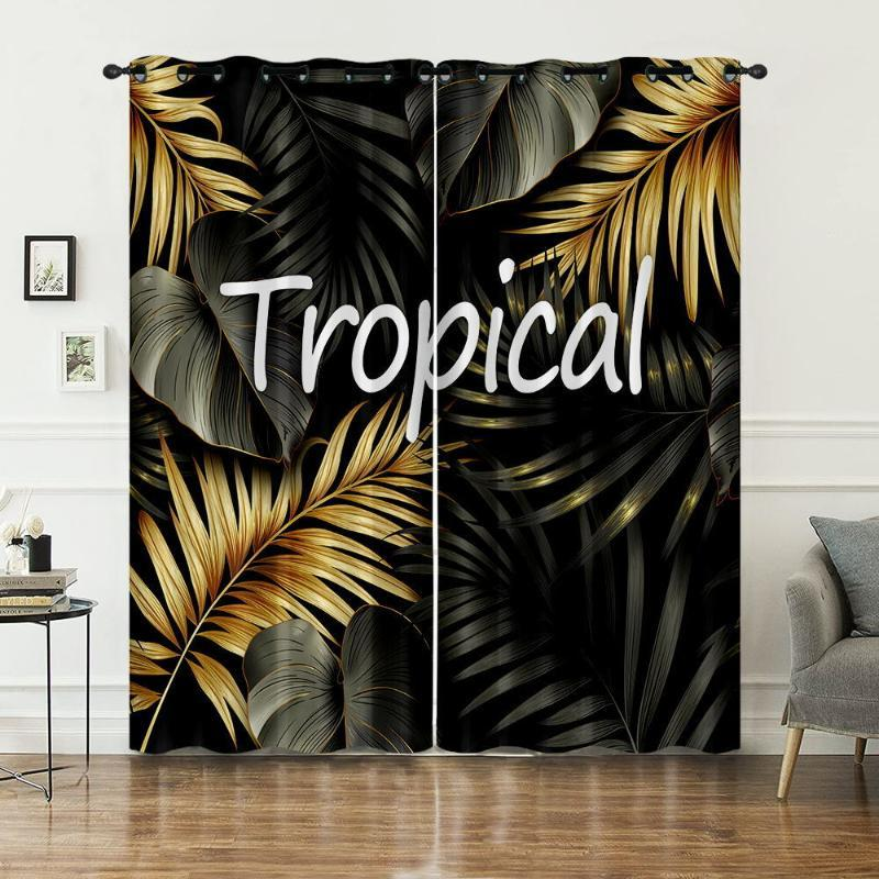 Curtain & Drapes Hawaii Tropical Plants Style Room Decoration Background Summer Vacation Cloth Surfing Bedroom Rideau