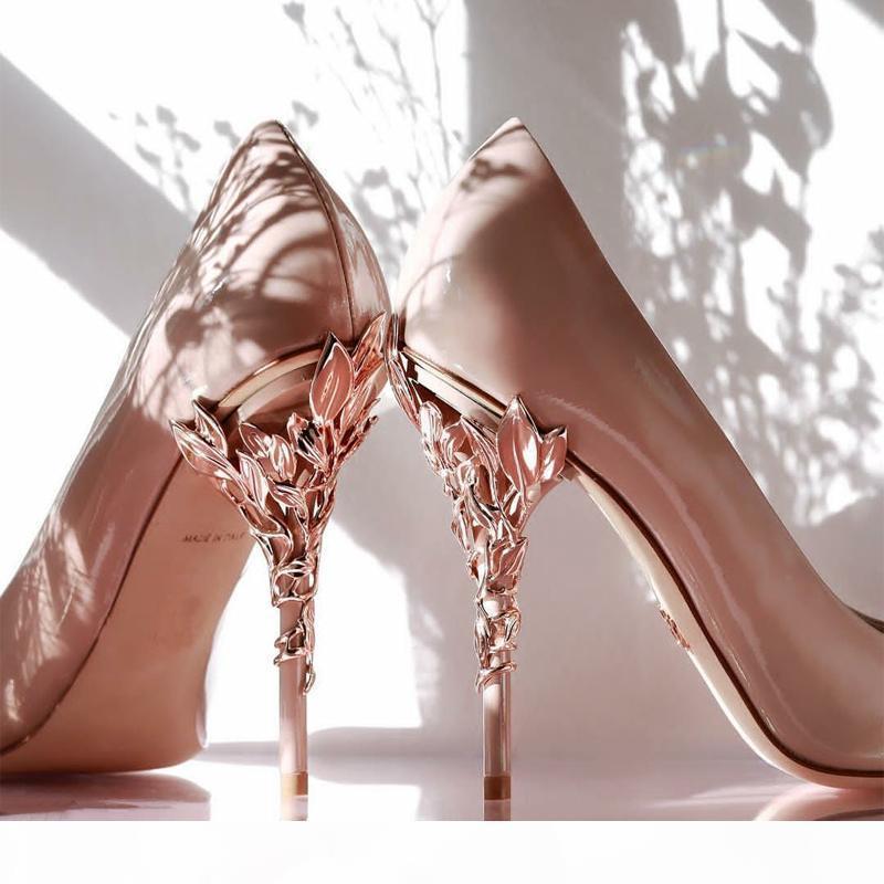 Designer Designer Scarpe comode da sposa da sposa scarpe da sposa in pelle di pecora Eden talloni Scarpe per la sera da sposa Party Prom usura