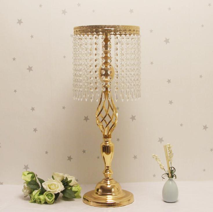 Candle Holders /Silver Rhinestone Candelabra Gold Holder Table Centerpiece Vase Stand Crystal Candlestick Wedding Decoration Wholesale