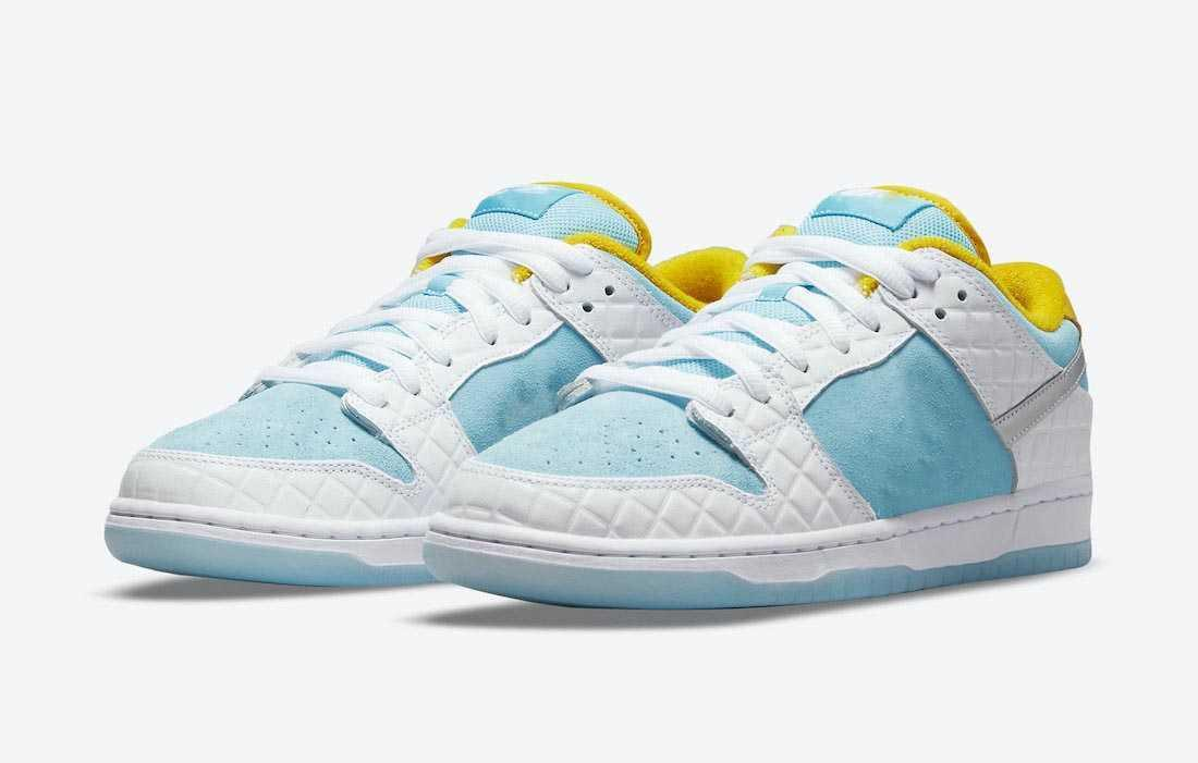 2021 Authentic Dunk FTC Shoes White Lagoon Pulse Metallic Silver Speed Yellow Low Men Women Outdoor Sports Sneakers Trainers With Original