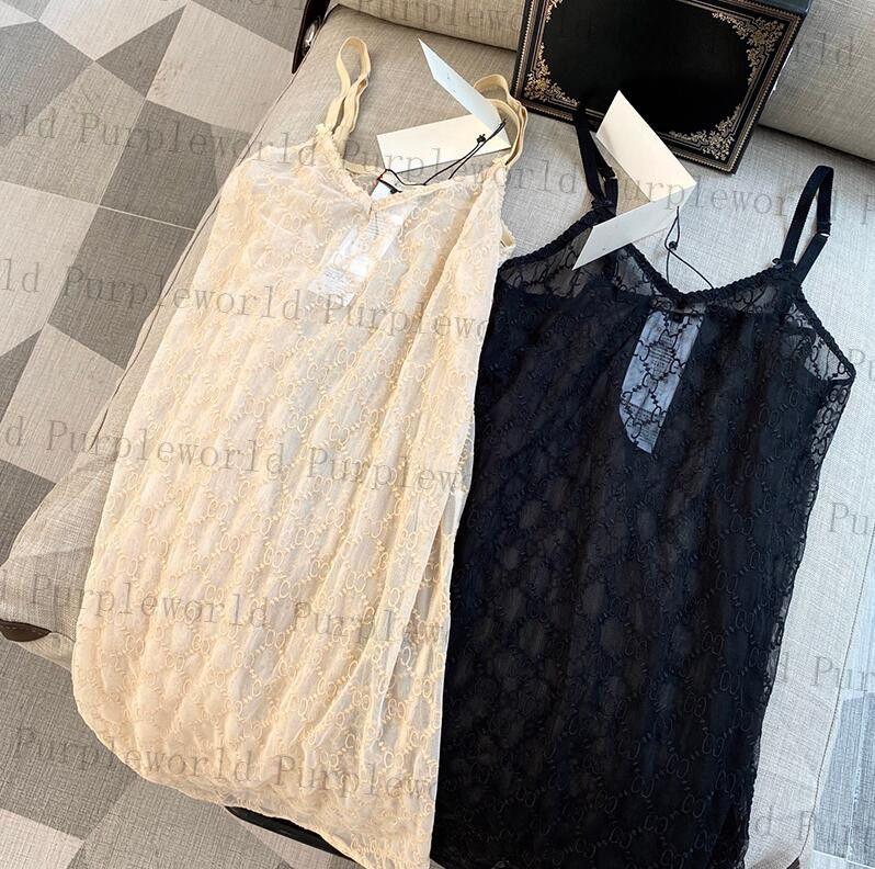 클래식 자카드 여성 잠옷 2 색 섹시한 레이스 나이트 가운 여름 소프트 터치 자수 잠자기 원피스 수면 착용