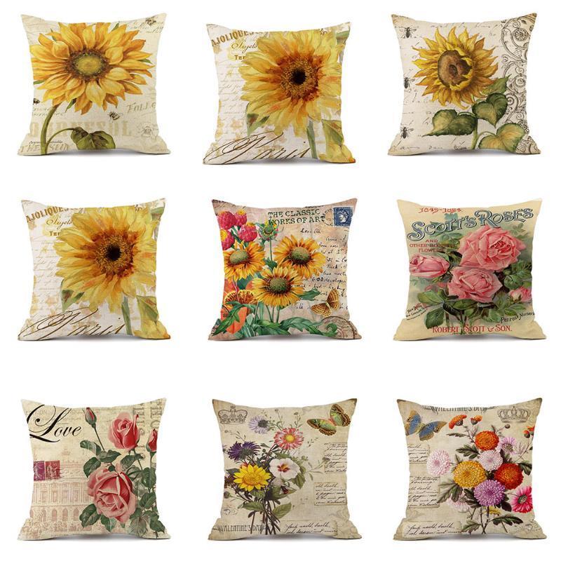 Розовые цветы принты принты подушка чехол для подушки подушка для подушки для дома украшения дома декоративная подушка
