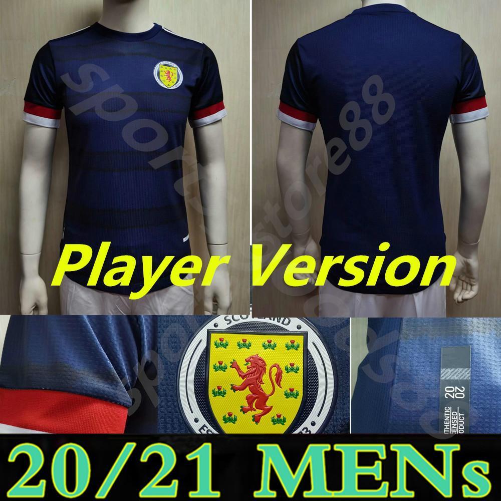 22 22 Jogador Versão Escócia Scotland Jersey 2021 2022 Tierney Robertson McTominay Camisa de futebol Christie McGregor McGinn Homens Crianças uniformes Home Kits Camesitas