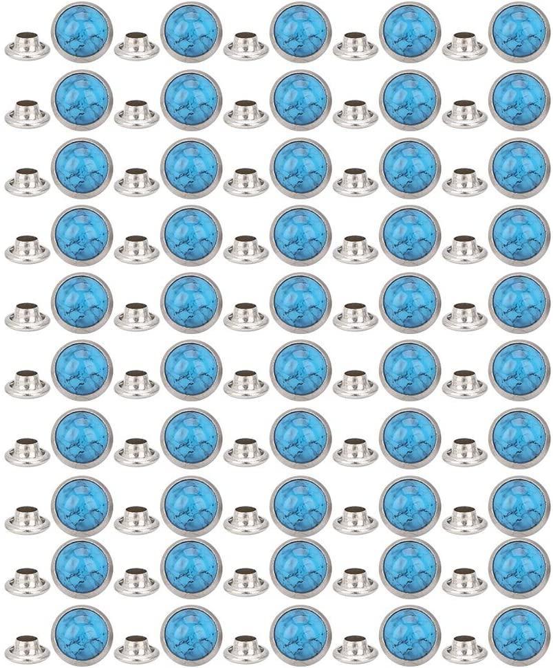 Composants Tsunshine Bleu Turquoise Rapid Rivets Rapides DIY Cuir-Craft pour chaussures de sac Bracelet en cuir tandy