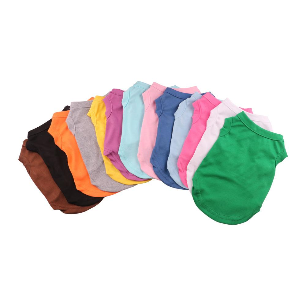 Hundebekleidung Haustier T Shirts Sommer Solide Farbe Katze Mode Weste Baumwolle Kleidung Hunde Welpe GWB8463