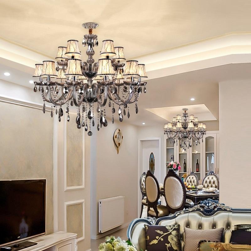 Europäischer Stil Kristall Kronleuchter Modern Einfache Wohnzimmer Luxus Atmosphäre Kreative Persönlichkeit Schlafzimmerlampe Essinging Pendelleuchte