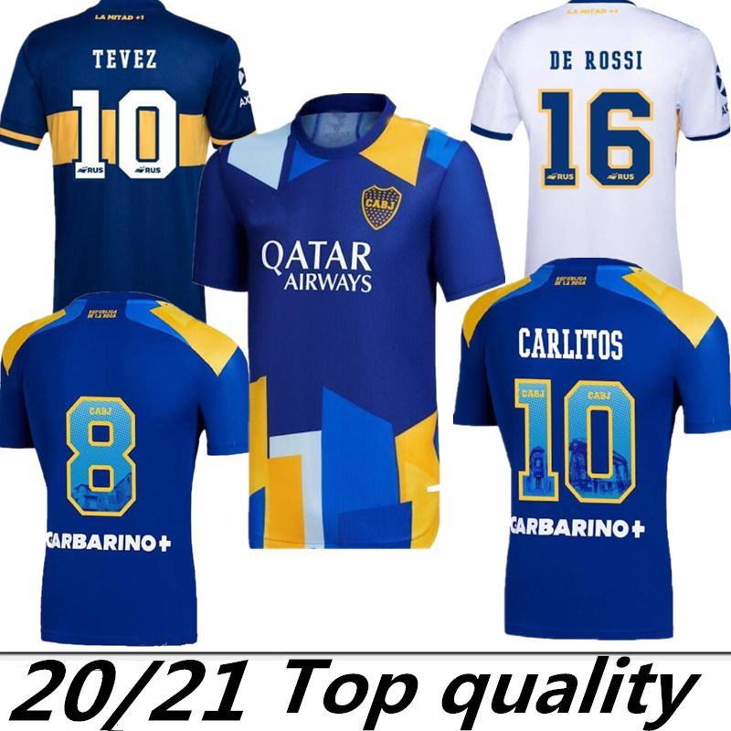 Acquista Ventilatori Versione 21 22 Boca Juniors Soccer Jersey Carlitos Maradona Tevez De Rossi 2021Third Home Away 3a 4a Thailandia Camicia Da Calcio ...