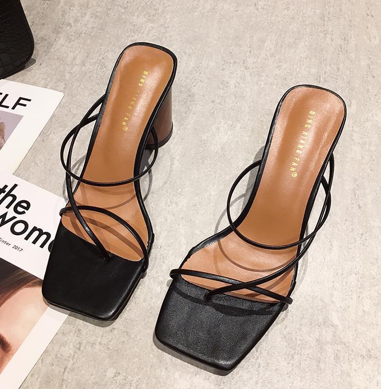 Summer Femme 8cm Escarpin Sandals classique Bloc talons Platform Pumps Lady Chunky Fertsh Brown mariage Prom Sandles Chaussures