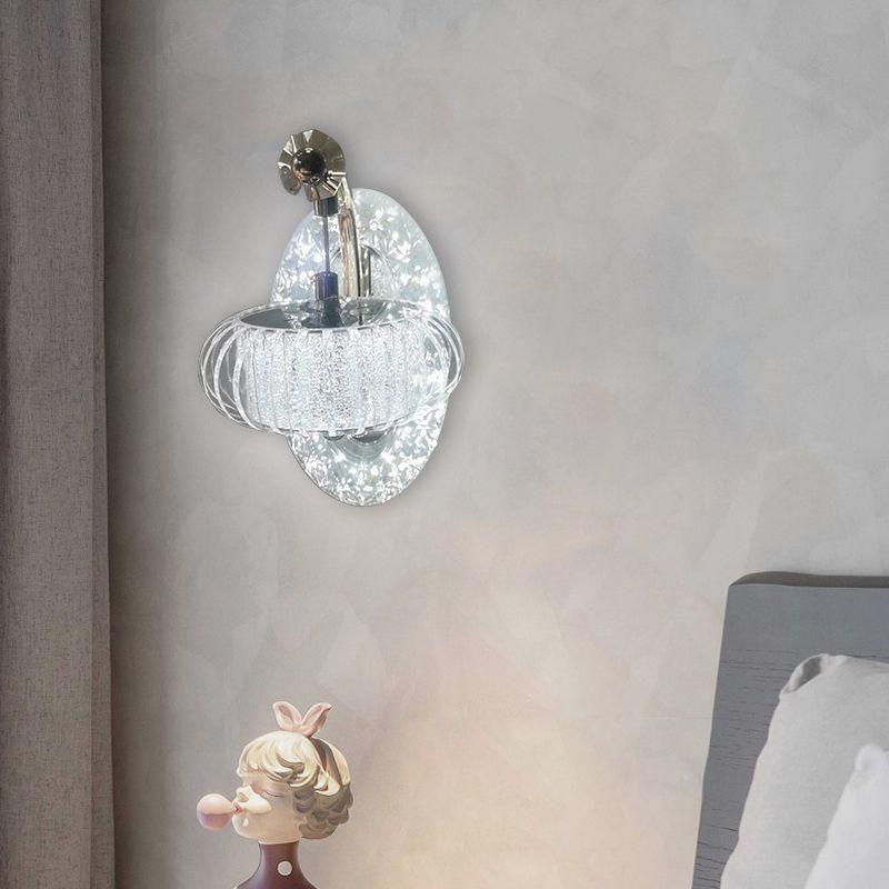 현대 침실 침대 옆 LED 크리스탈 벽 램프 거실 TV 복도 계단 크리 에이 티브 노르딕 간단한 램프