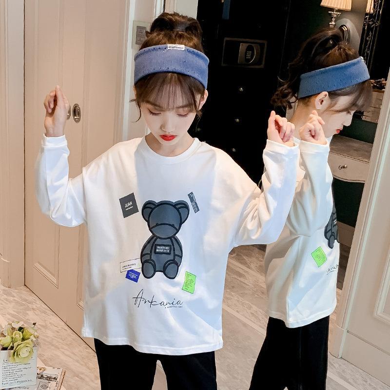 Kinder tragen koreanische Mädchen 'Langarm-T-Shirt 2029