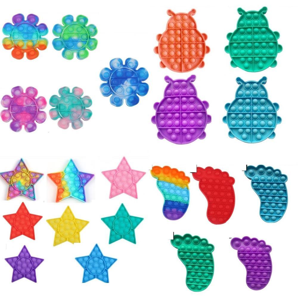 Adultos para niños Push Pop Fidget Toys Simple Tiktok Decompression Toy Desktop Puzzle Finger Sensory Pressing Bubble Toys Juego H41P9WN