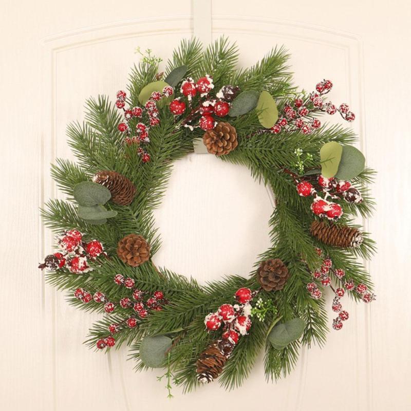 Noel # W0 dekoratif çiçek çelenk için çelenk yeniden kullanılabilir duvar asılı çelenk