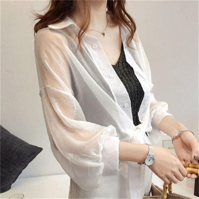 Женская рубашка, тонкий женский, светлый и удобный, износ с повседневной одеждой темперамент T200720