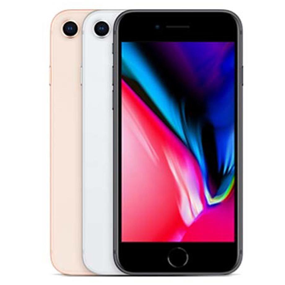 Refurbished Original Apple iPhone 8 4.7 inch Fingerprint iOS A11 Hexa Core 2GB RAM 64/256GB ROM 12MP Unlocked 4G LTE Smart Phone DHL 30pcs