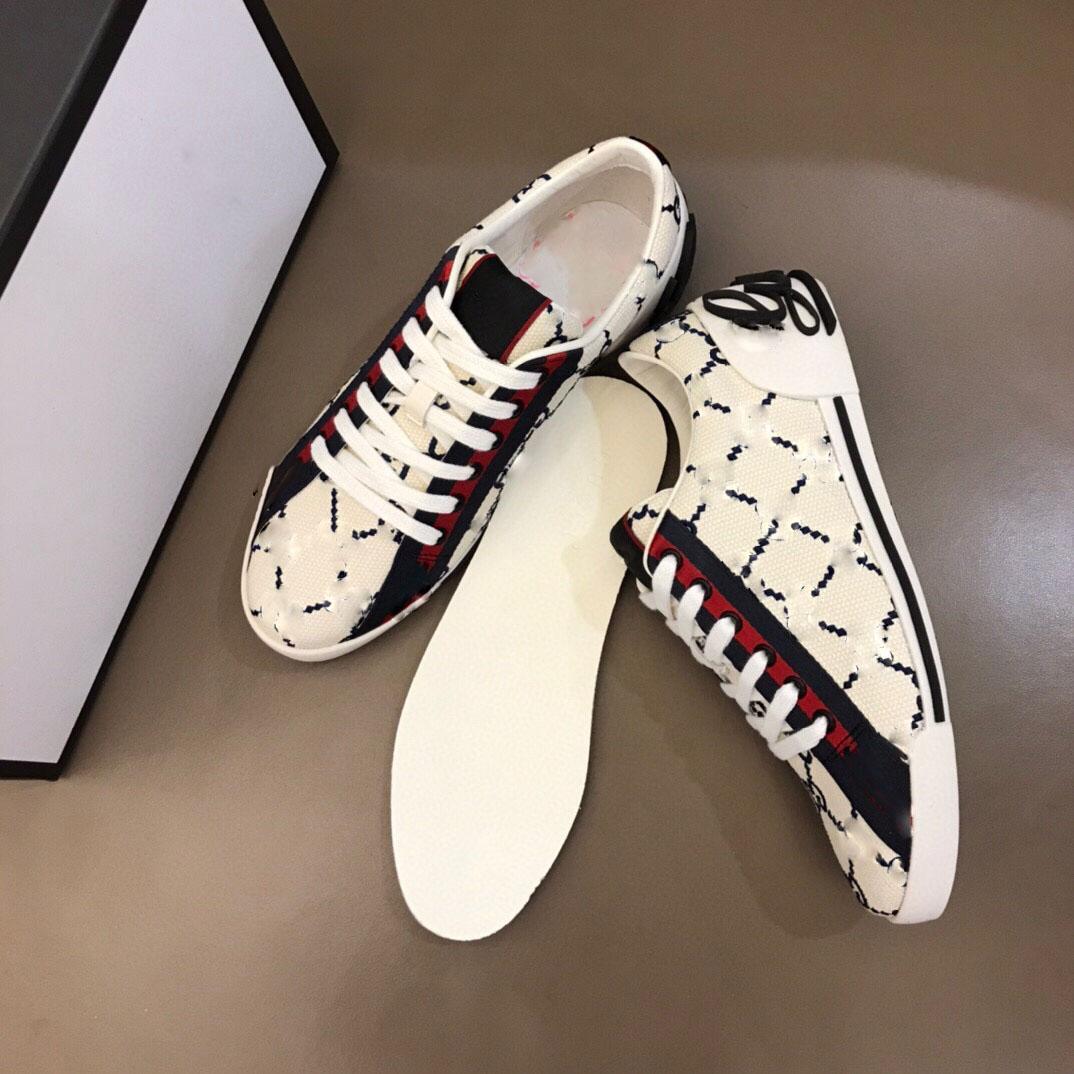 2021 En son satış yüksek kalite erkek retro düşük üst baskı sneakers tasarım örgü pull-on lüks bayanlar moda nefes rahat ayakkabılar