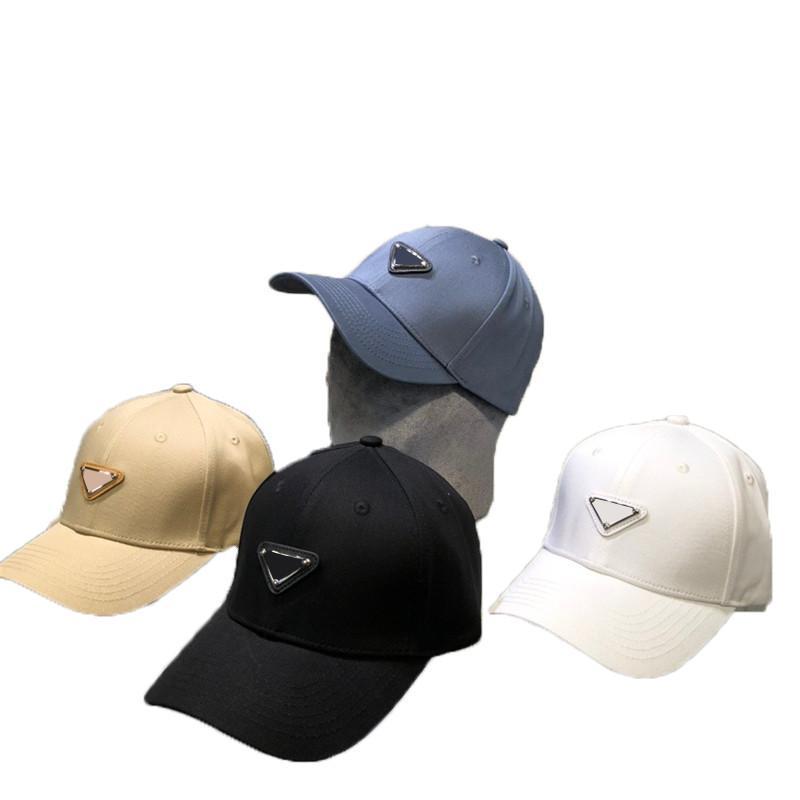 Uomini di lusso Donne Snapback Metal Triangle Lettera Cappelli da baseball Coppia Sport all'aperto Cappuccio di sport regolabile Hip Hop Hat