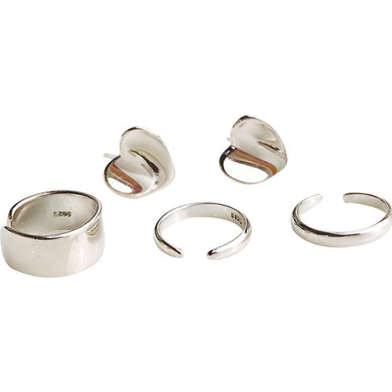 Clip-on на заднем плане реальный 925 стерлингового серебра в любовном сердечном зажиме на серьги для женщин ушной джоййс, без пирсинга моды ювелирных изделий