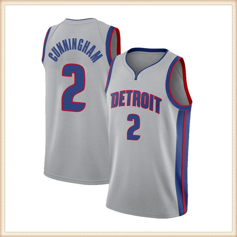 "Detroit ""Pistons"" Jerseys de baloncesto Cade 2 Cunningham Jersey Grant 33 Hill Derrick 25 Rose Isiah 11 Thomas Dennis10 Rodman 6666"