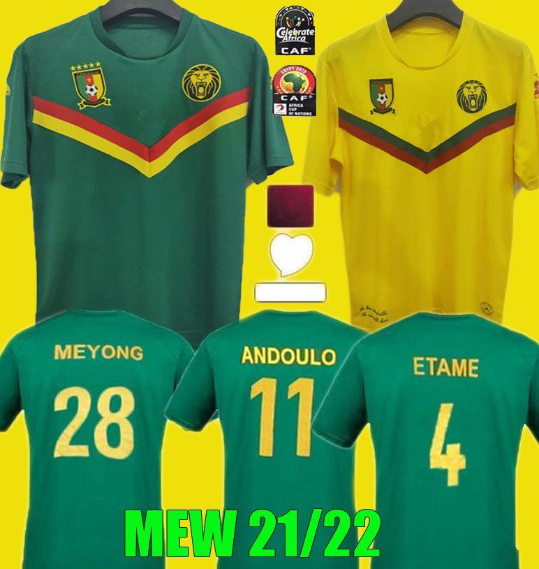 Acquista 2021 2022 Camerun Soccer Jersey 21 22 Home Blue # 9 Etoo # 10 Aboubakar Toko Away National Team Shirt Da Calcio Uniforme A 10,49 € Dal ...