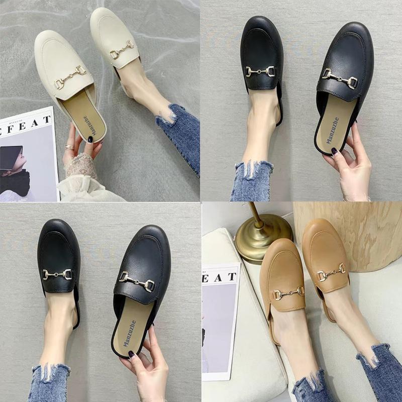 디자이너 패션 여름 숙녀 슬리퍼 Baotou 평면 캐주얼 하프 한국어 게으른 신발
