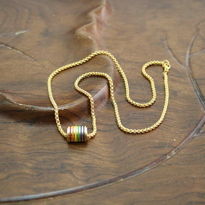Anhänger Halsketten Süße Regenbogen Halskette Mode Flut Flow Hohe Qualität Kleine Fee Favorit