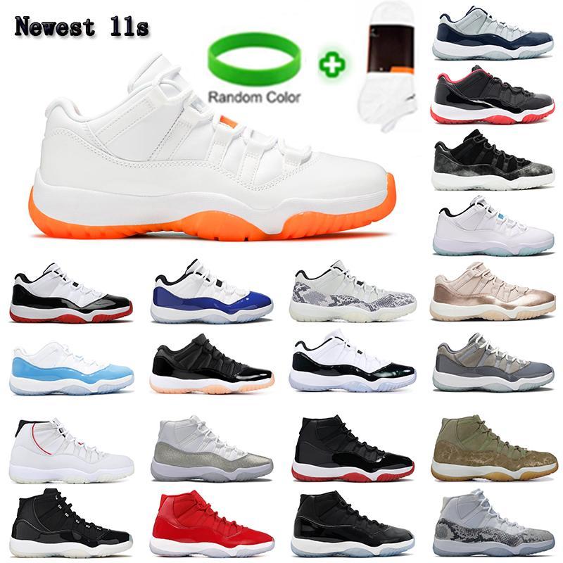 11 11s homens mulheres sapatos de basquete 25o jumpman aniversário jubileu baixo branco compras concord 23 gs gama azul metálico prata platina tinta tênis