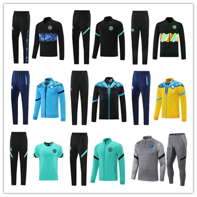 21 22 Mens Napoli Futebol Tracksuit Futebol Hoodie Jacket 2021 2022 SSC Nápoles Hommes Treinamento Desgaste de Desgaste Tutera Chandal Sull Jogging