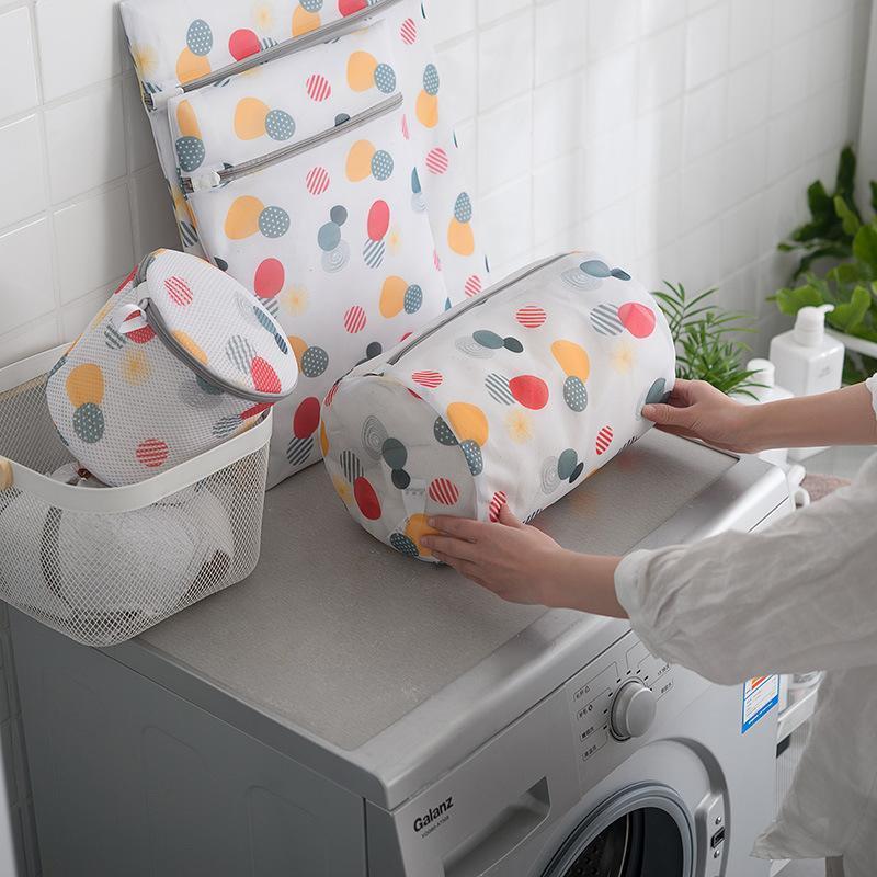 Máquina de lavar roupa de lavandaria com zíper Máquina de lavar roupa de limpeza de roupa de roupa interior Bags de malha útil