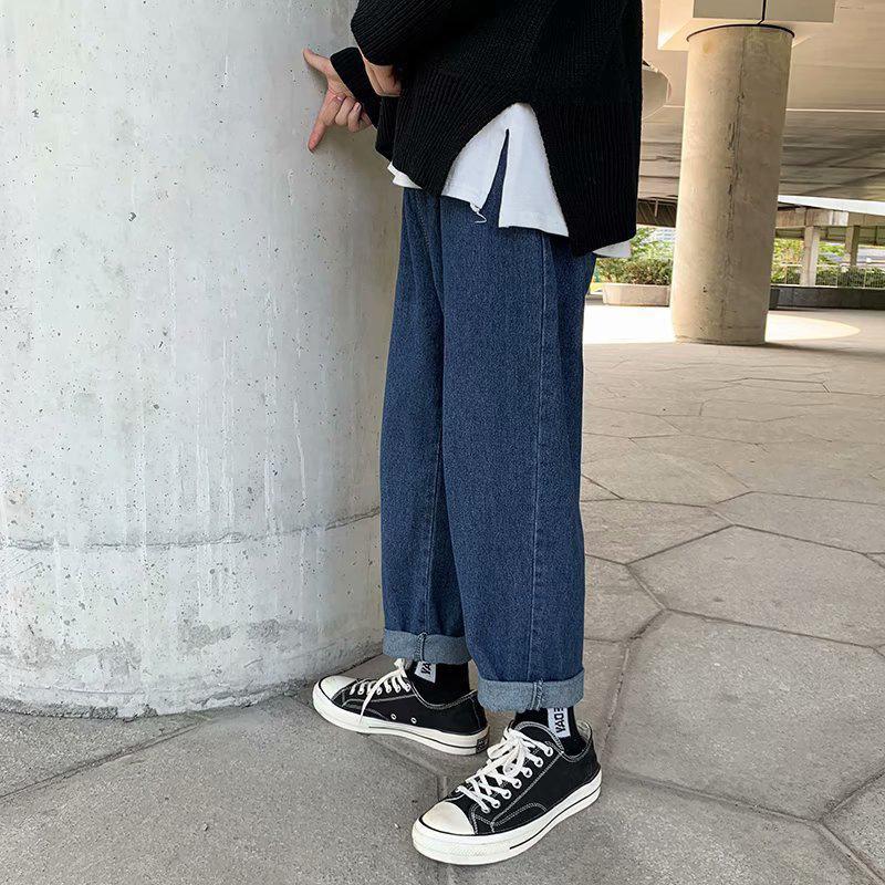 Fashion Homme Brand Droite Jeans Trend Roasif Casual Beau pantalon au printemps et à l'automne