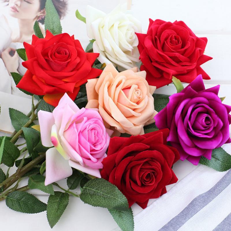Künstliche Blumen Seide Rose Lange Niederlassung Blumenstrauß Für Hochzeit Dekoration Gefälschte DIY Kranz Liefert Zubehör Dekorative Kränze