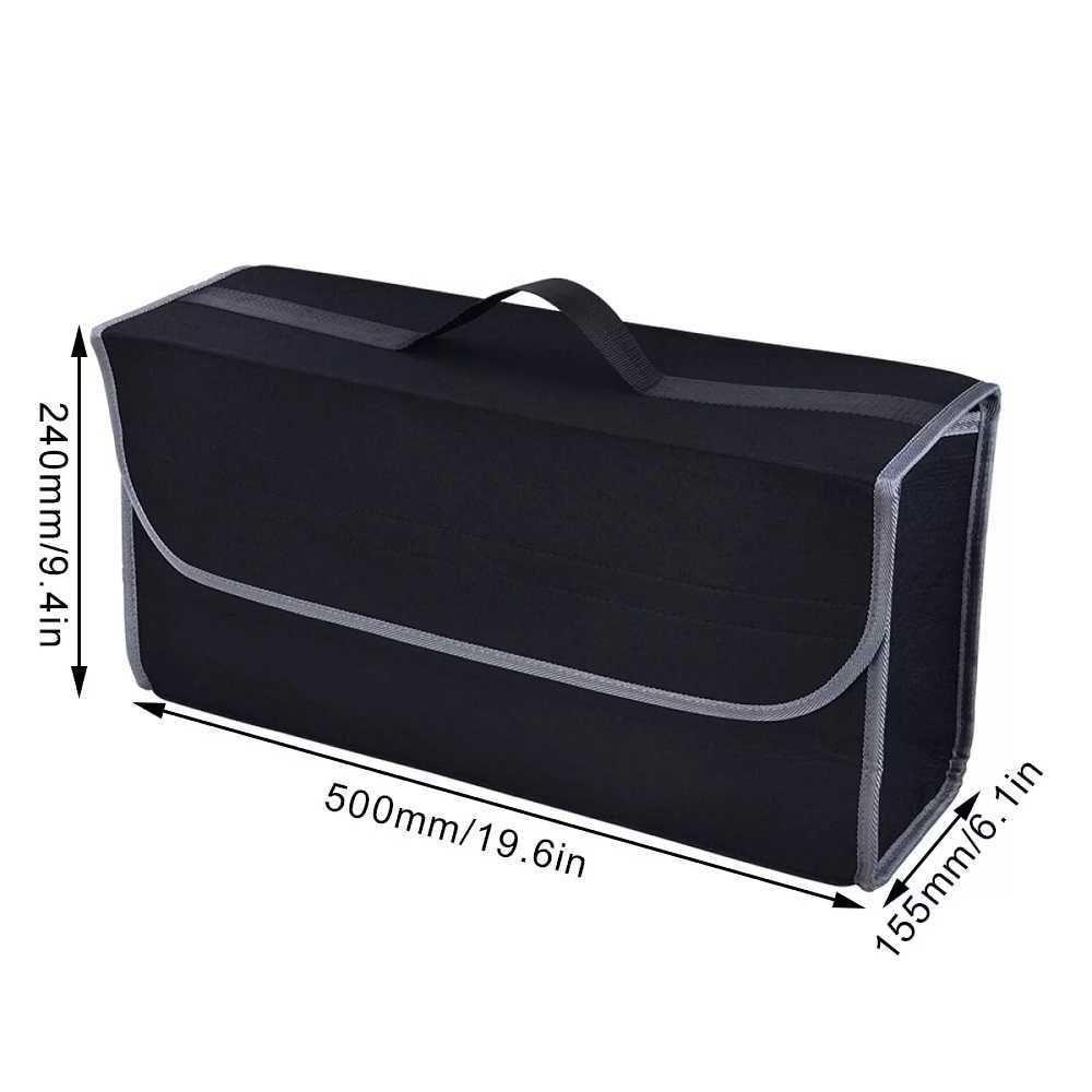 Car Trunk Organizer Car Soft Felt Storage Box Cargo Container Box Trunk Bag Stowing Tidying Holder Multi-Pocket