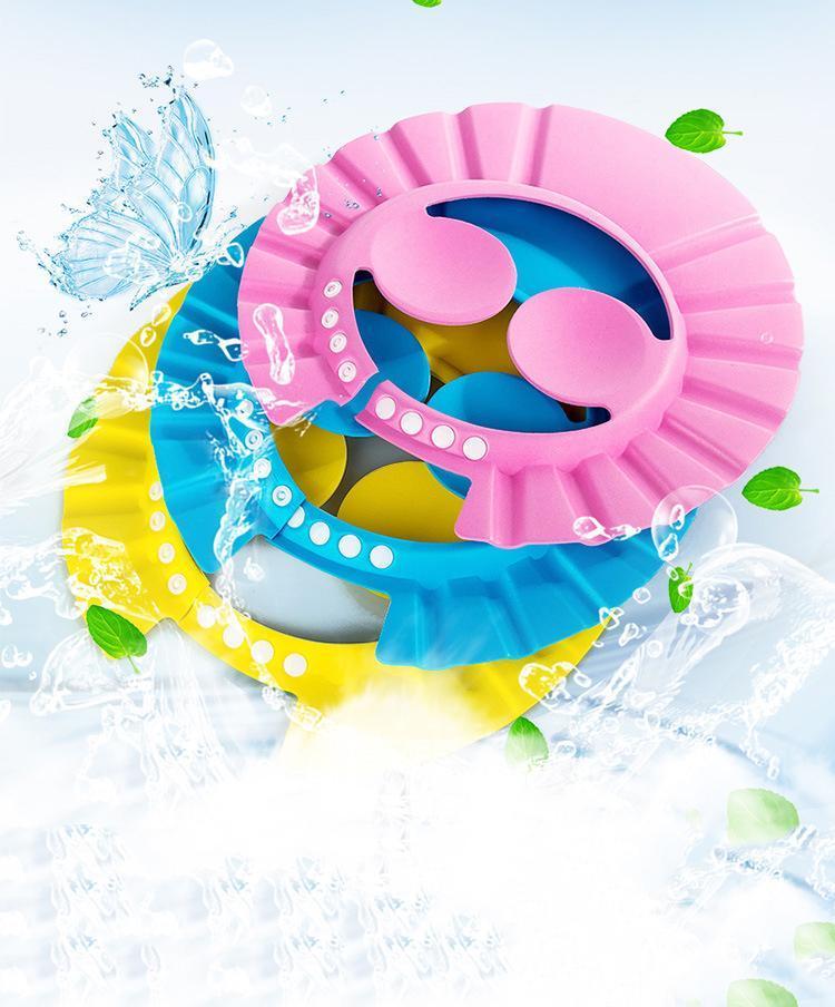 Duschkappen Baby Shampoo Badschutzkappe Wasserdichte Ohrauge Verstellbares Badezimmer Sonnenblende Kinder Liefert