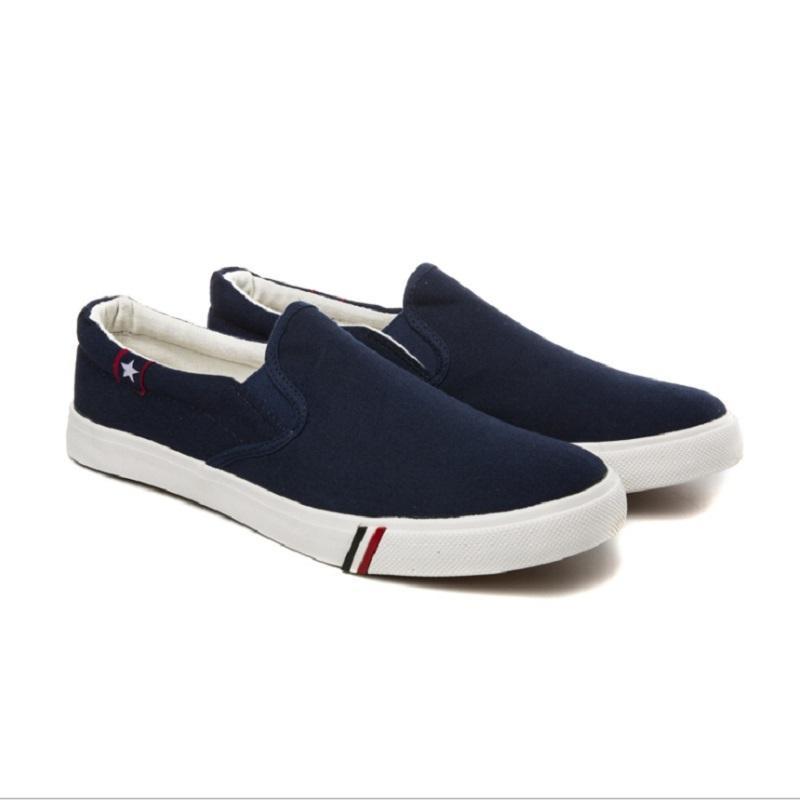 أحذية الرجال الاحذية الأبيض الأسود الأزرق تنفس مريحة رجل المدربين قماش الأحذية الرياضية رياضة العدائين حجم 40-46 04