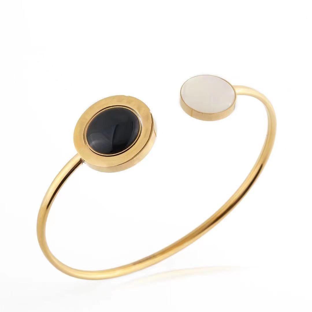 infinity bangles for girls silk thread custom bracelets women designer personalised gold black white two sided opening love bangle mens luxury bracelet jewelry